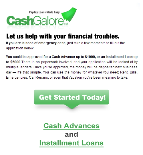 Cash Advance and Installment Loans
